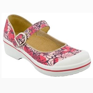 Dansko Valerie Mary Jane Pink flower adjustable